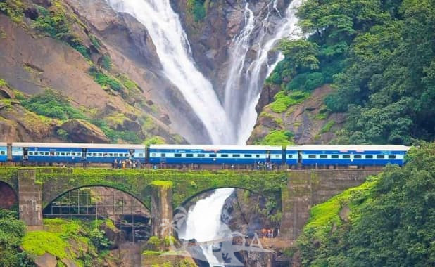 1. Dudhsagar Waterfalls